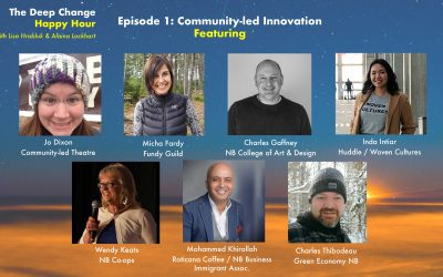 Deep Change Happy Hour welcomes seven community innovators to our virtual Friday lunch table